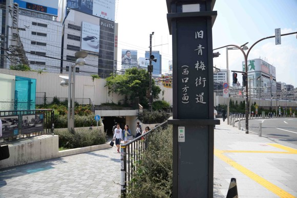 The old Ōme Kaidō passes under the elevated train tracks near Shinjuku Station.  The tunnel is referred to by foreigners as the