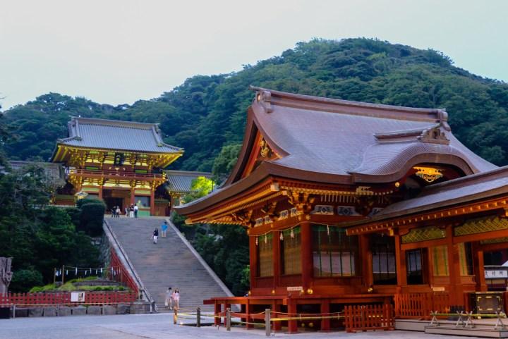 Tsurugaoka Hachimangū at Kamakura. Many say the cult of Hachimangū was the main cult of the post-Minamoto samurai families.