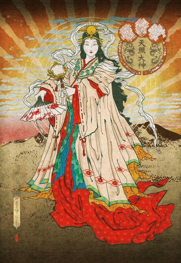 Amaterasu sun goddess