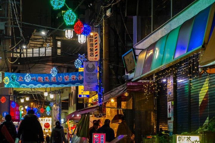 shinagawa tachiaigawa at night