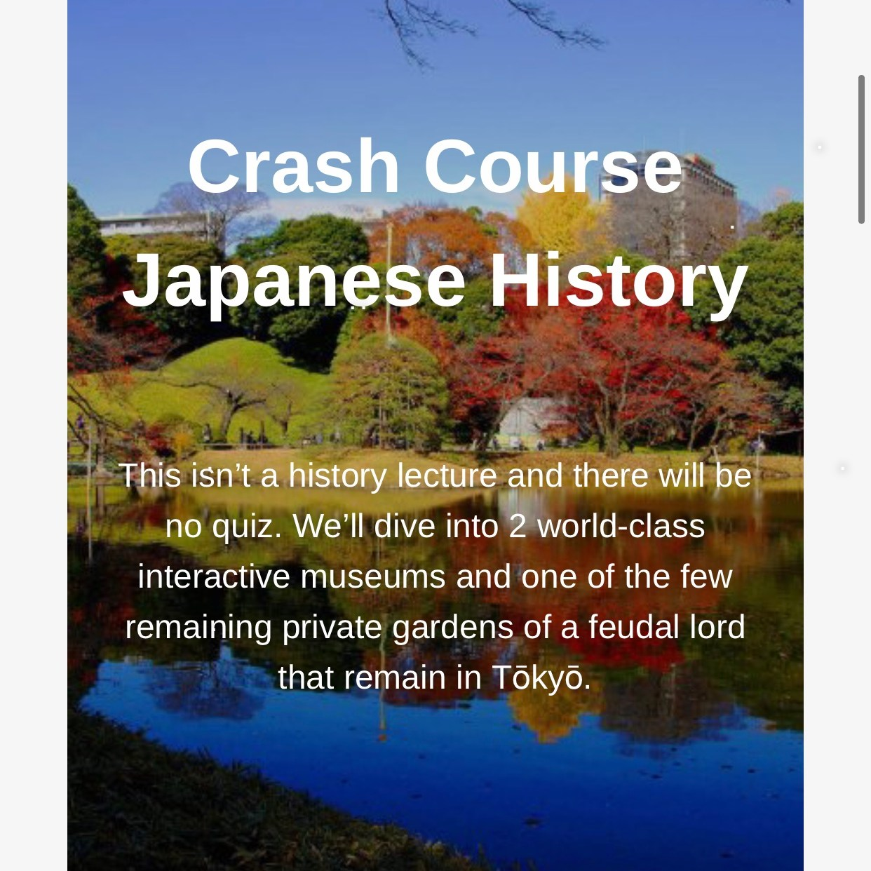 Japanese History Tour