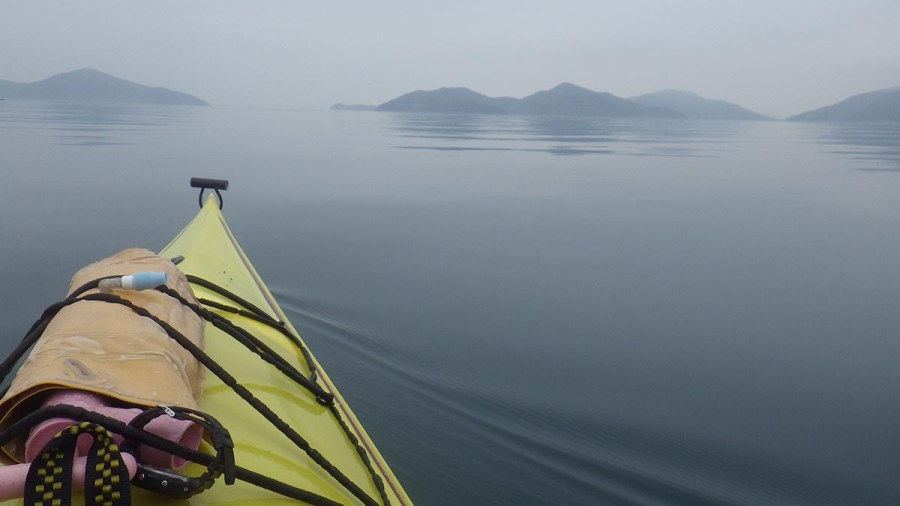 Kayaking in Fog