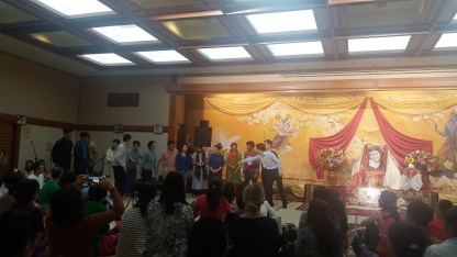 Japan collective thanked by everyone on the last day of Puja weekend.