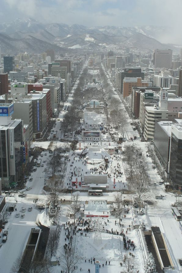 Festival de neve Sapporo dia