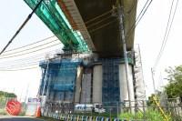 Sensitive spot big scale high way construction, Kenoudou accross Shinkansen. (35)