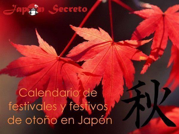 Calendario completo de Festivales y Festivos de Japón en Otoño