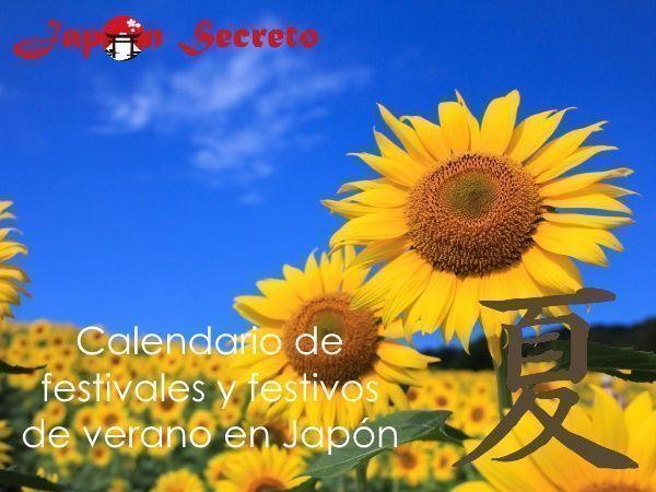 Calendario de festivales y festivos de Japón en verano