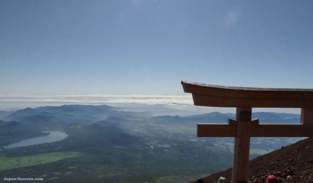 Guía de escalada: vistas desde la cima del Monte Fuji