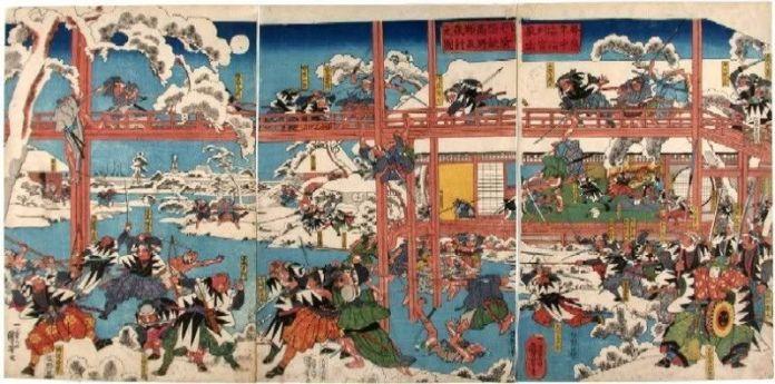 Ukiyo-e sobre la leyenda de los 47 rōnin