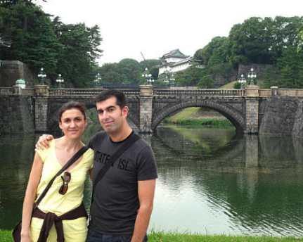 Nosotros de visita en el Palacio Imperial en el año 2008