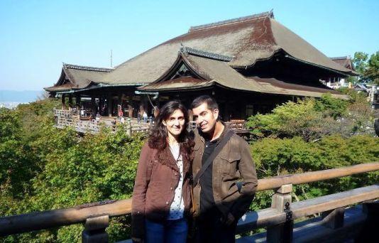 Nosotros en el templo Kiyomizu hace poco más de un mes