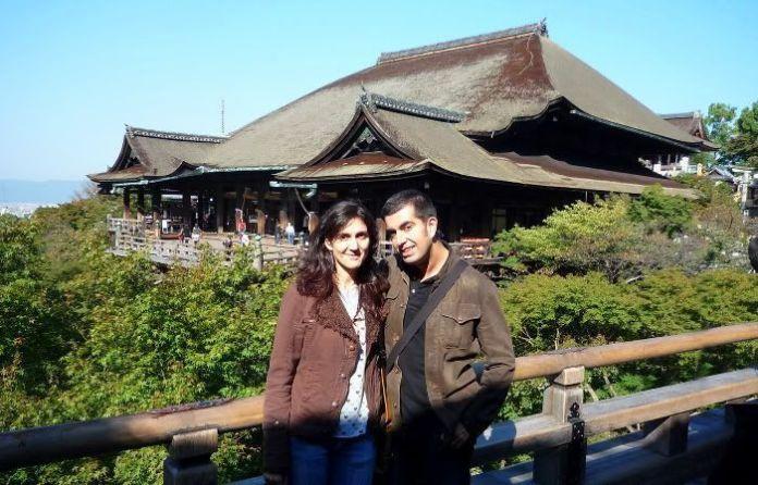 Nosotros visitando el templo Kiyomizu de Kioto en 2010