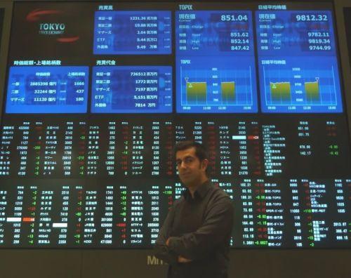 Javi en la Bolsa de Tokio (japon-secreto.com)