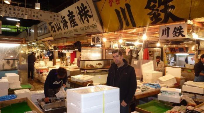 Yo en Tsukiji (otoño de 2010)