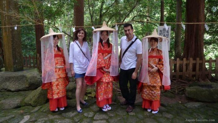 En el santuario de Nachi Taisha