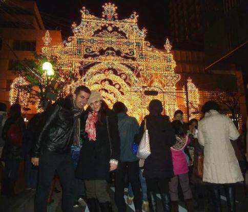 En el Kobe Luminarie (invierno de 2012)