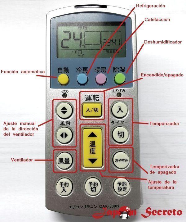Cómo usar un climatizador en Japón. Instrucciones aire acondicionado