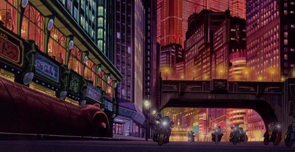"""Ambiente cyberpunk en la Neotokio de """"Akira"""" (Katsuhiro Otomo)"""