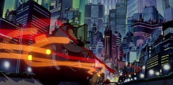 "Ambiente cyberpunk de ""Akira"", de Katsuhiro Otomo"