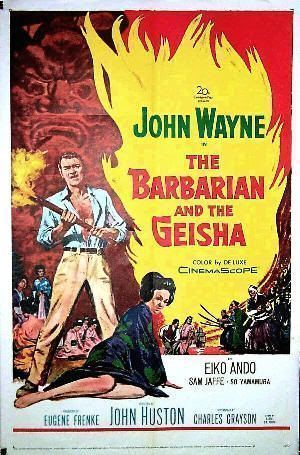 "Cartel de ""El Bárbaro y la Geisha"" (""The Barbarian and the Geisha"", 1958)"