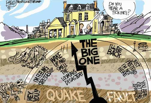 "El gran terremoto o ""the big one"""