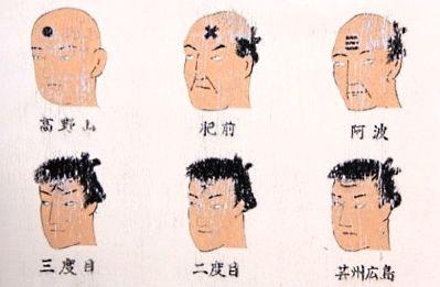 Tatuajes japoneses en la frente de los criminales