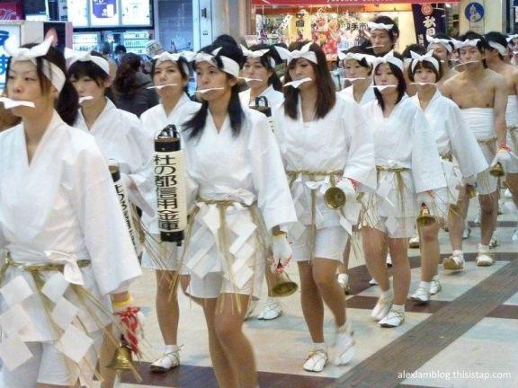 Festivales de Japón: Dontosai o festivales de desnudos celebrados en la prefectura de Miyagi. Las mujeres también participan