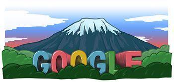 Google Doodle Monte Fuji Patrimonio de la Humanidad