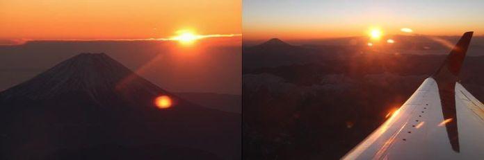 Ver la primera salida del sol del año sobrevolando el Fuji con la JAL (Japón)