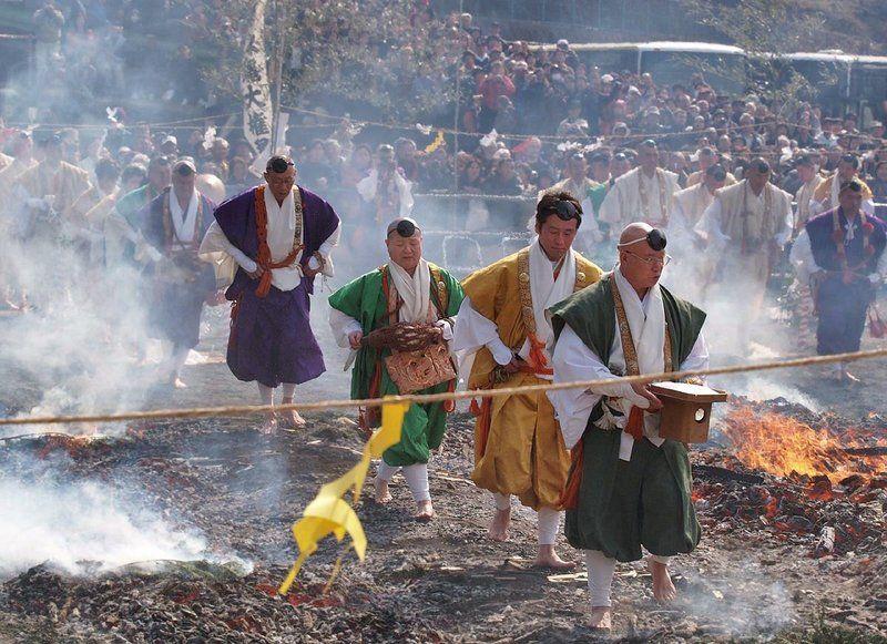 Hiwatari Sai, el festival de caminar sobre el fuego @ Templo Yakuōin Gongendō | Hachioji | Tokyo | Japón