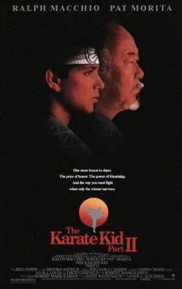 Cartel de Karate Kid II: el momento de la verdad