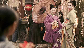 """Sakuras en flor en """"Memorias de una Geisha""""(""""Memoirs of a Geisha"""", 2005)"""