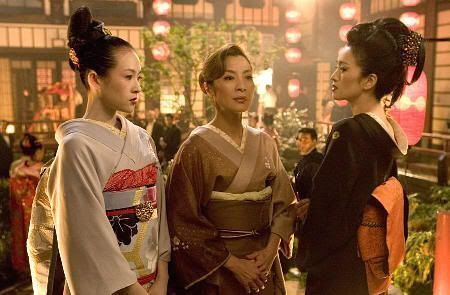 "Sayuri, Mameha y Matsumomo. ""Memorias de una Geisha""(""Memoirs of a Geisha"", 2005)"