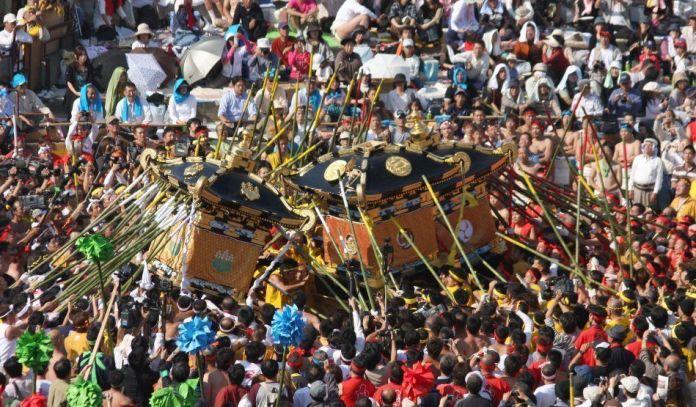 """Festivales de Japón: el Nada No Kenka Matsuri(灘のけんか祭り) o """"Festival de la Lucha"""" de Himeji"""