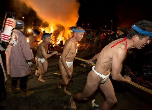 Festivales de desnudos en Japón: el Oiso No Sagicho de Kanagawa