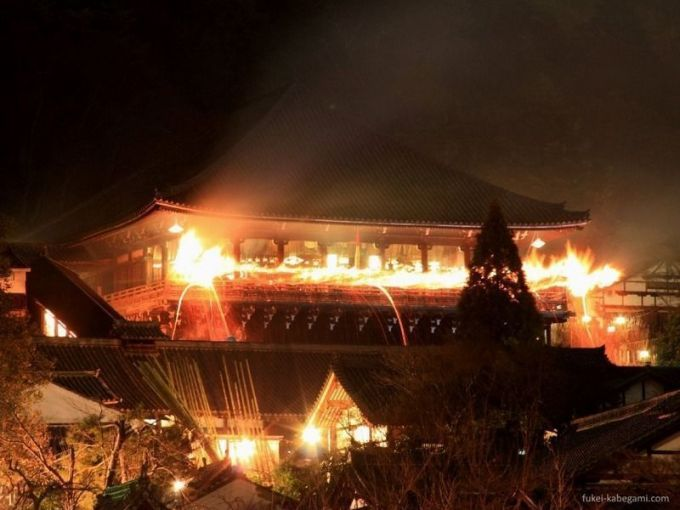 Festivales de Japón: el festival Omizutori de Nara, con su famosa lluvia de chispas durante el ritual Otaimatsu