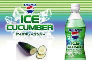 Pepsi de pepino helado en Japón