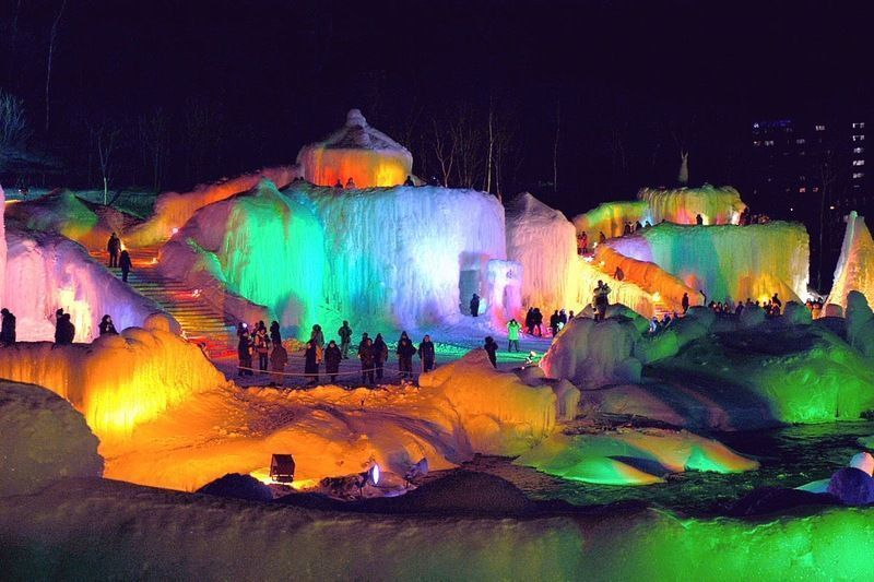 Festival de la Cascada de Hielo de Sounkyo @ Sounkyo Onsen | 上川町 | Hokkaidō Prefecture | Japón