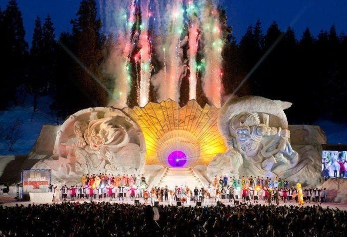 Festivales de Japón: Festival de Nieve de Tokamachi (十日町雪祭り, Tōkamachi Yuki Matsuri), celebrado en el interior de una zona montañosa de la prefectura de Niigata