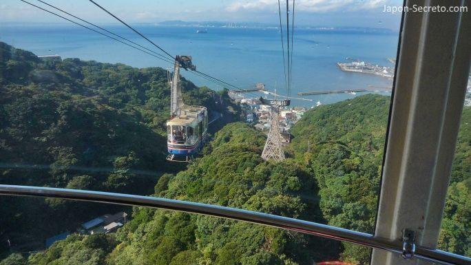 Teleférico hasta la cumbre del monte Nokogiri (Japón)