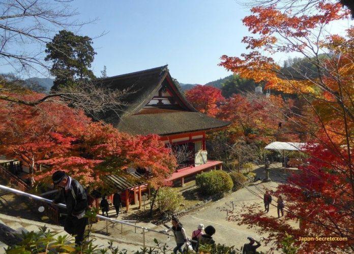"""Los colores de los árboles del santuario Tanzan (""""Tanzanjinja"""", 談山神社) en Sakurai (prefectura de Nara) en otoño son espectaculares y bellísimos."""