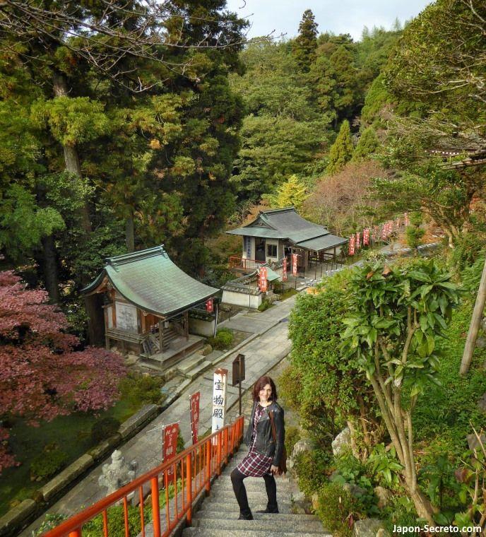 Excursiones desde Kioto: descubriendo la isla de Chikubu (Chikubushima), en el lago Biwa. Escaleras y más escaleras.