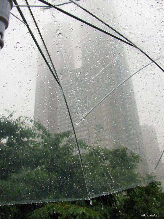 Junio en Japón: imagen del Edificio del Gobierno Metropolitano de Tokio (Shinjuku) durante el tsuyu o temporada de lluvias de junio