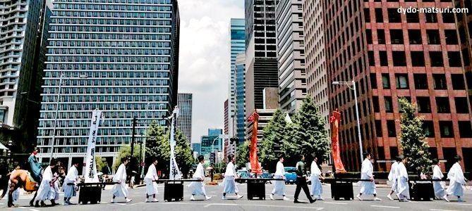 Festivales de Japón: el Sanno Matsuri, celebrado en Tokio a mediados de junio solo durante los años pares. Procesión Jinkosai