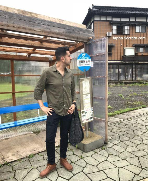 Japón. Ruta de peregrinación Dewa Sanzan. Monte Haguro (Hagurosan). Transporte. Cómo llegar. Autobús