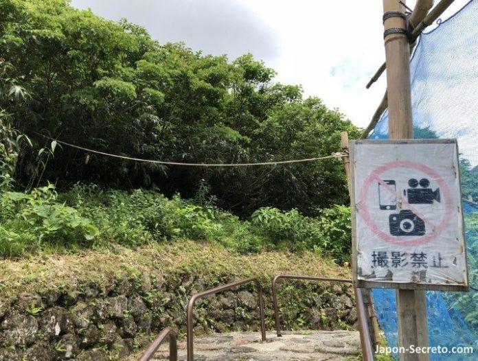 Japón. Ruta de peregrinación Dewa Sanzan. Monte Yudono (Yudonosan). Lugar sagrado. Prohibido tomar fotos