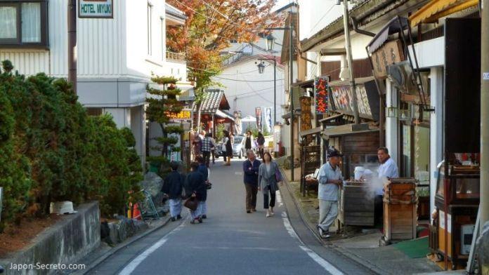 Calles de Kusatsu Onsen, el pueblo balneario más famoso e importante de Japón, en la prefectura de Gunma. Una perfecta excursión desde Tokio