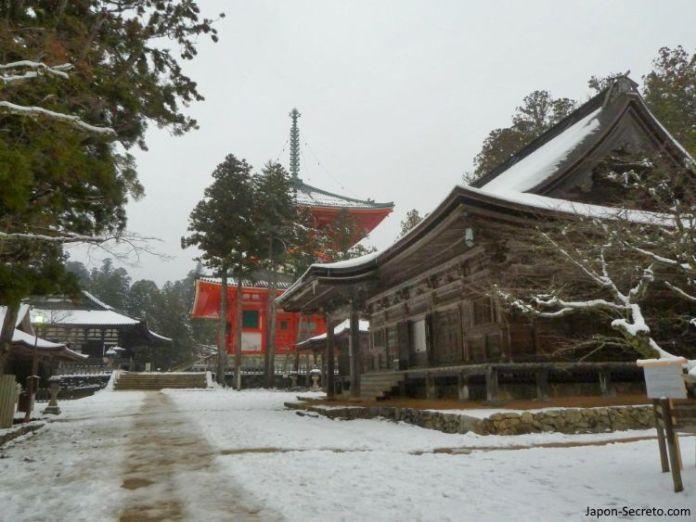 Viaje al Monte Koya o Koyasan (Wakayama): Garan, la sala Kondo y la PagodaKonpon Daito