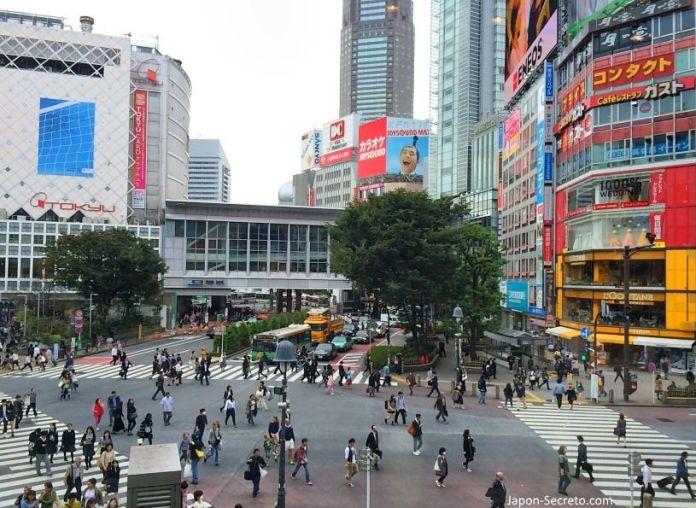 Viajar a Japón: cruce de Shibuya (Tokio). Gusto, L'Occitane y corredor Mark City