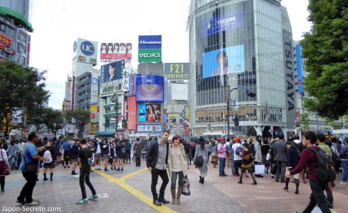 Viajar a Tokio: cruce de Shibuya